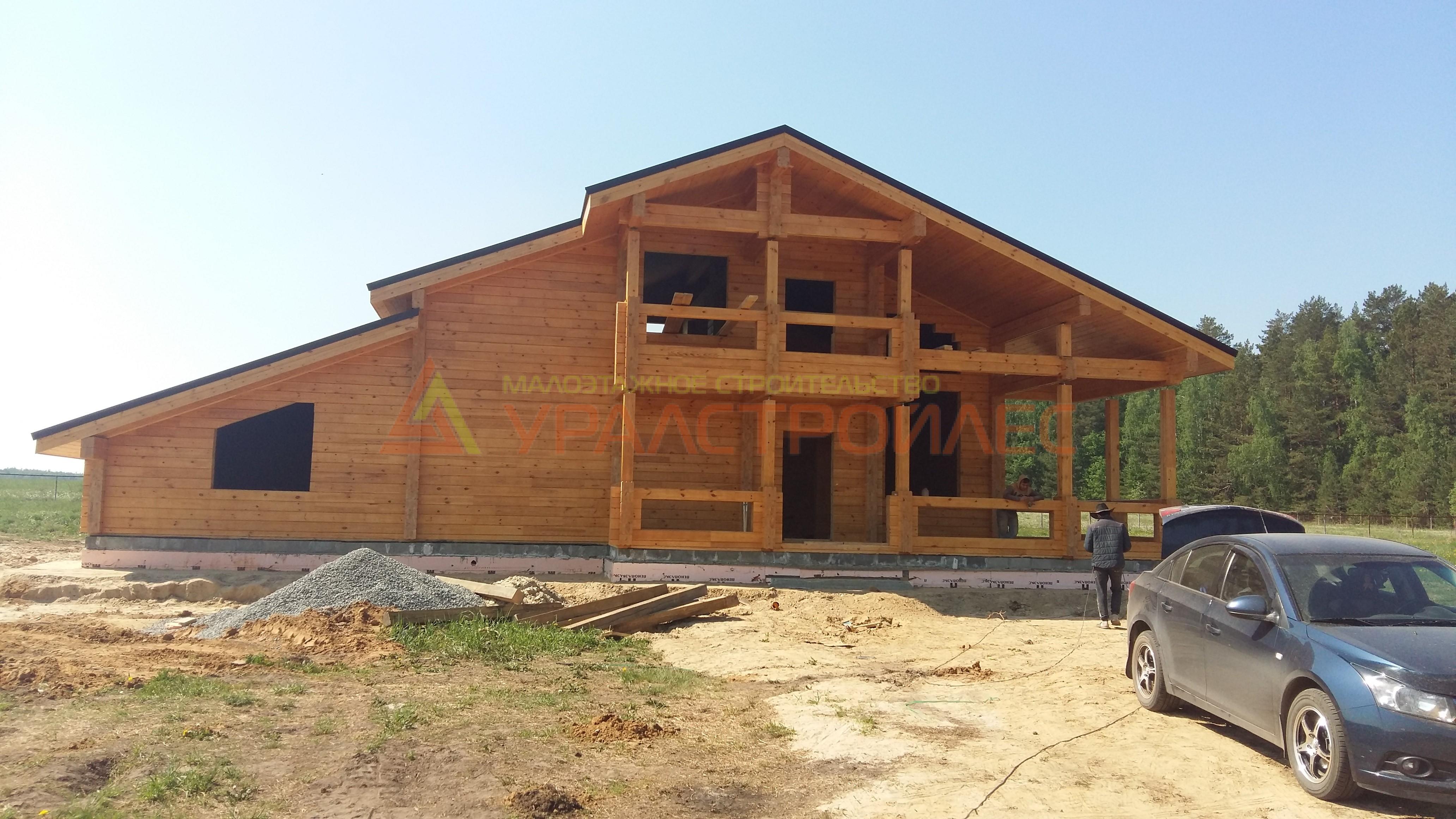 Проект №514 Тюмень. дер. Чёрная речка. Банный комплекс