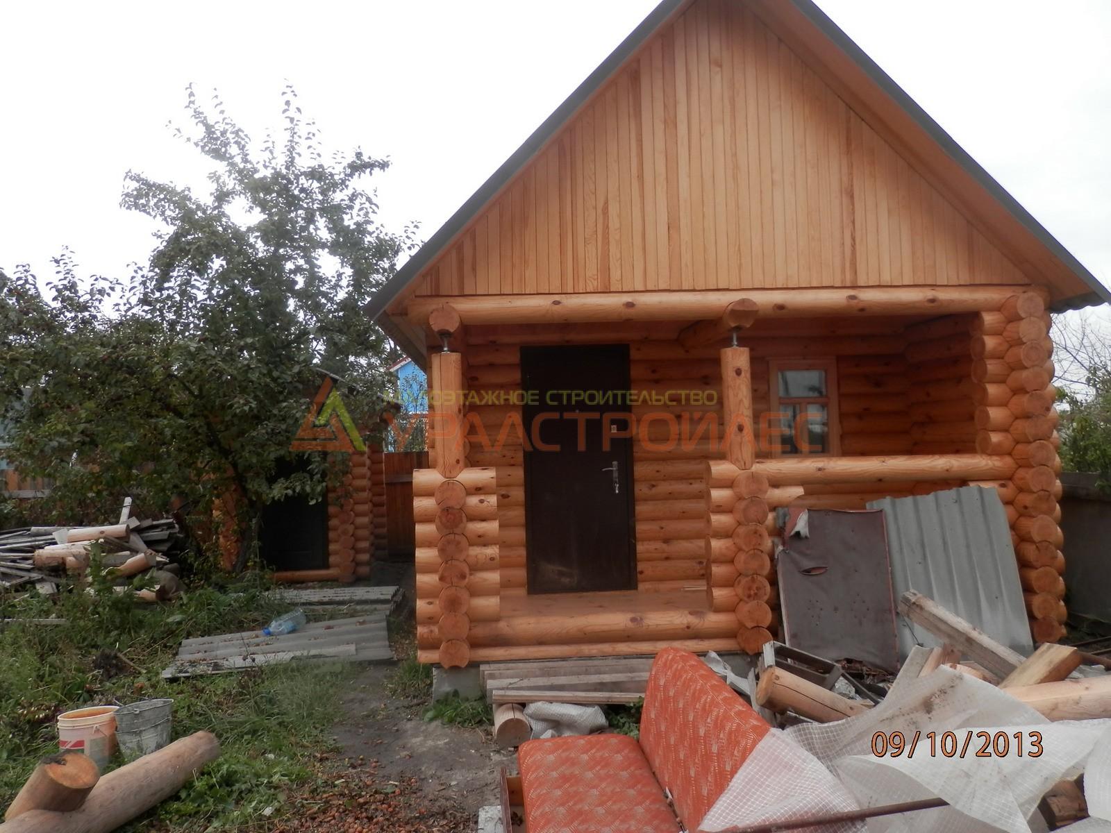 Проект №205, баня 5.8х4, общая площадь 20 мк.в. (диаметр бревна 200)