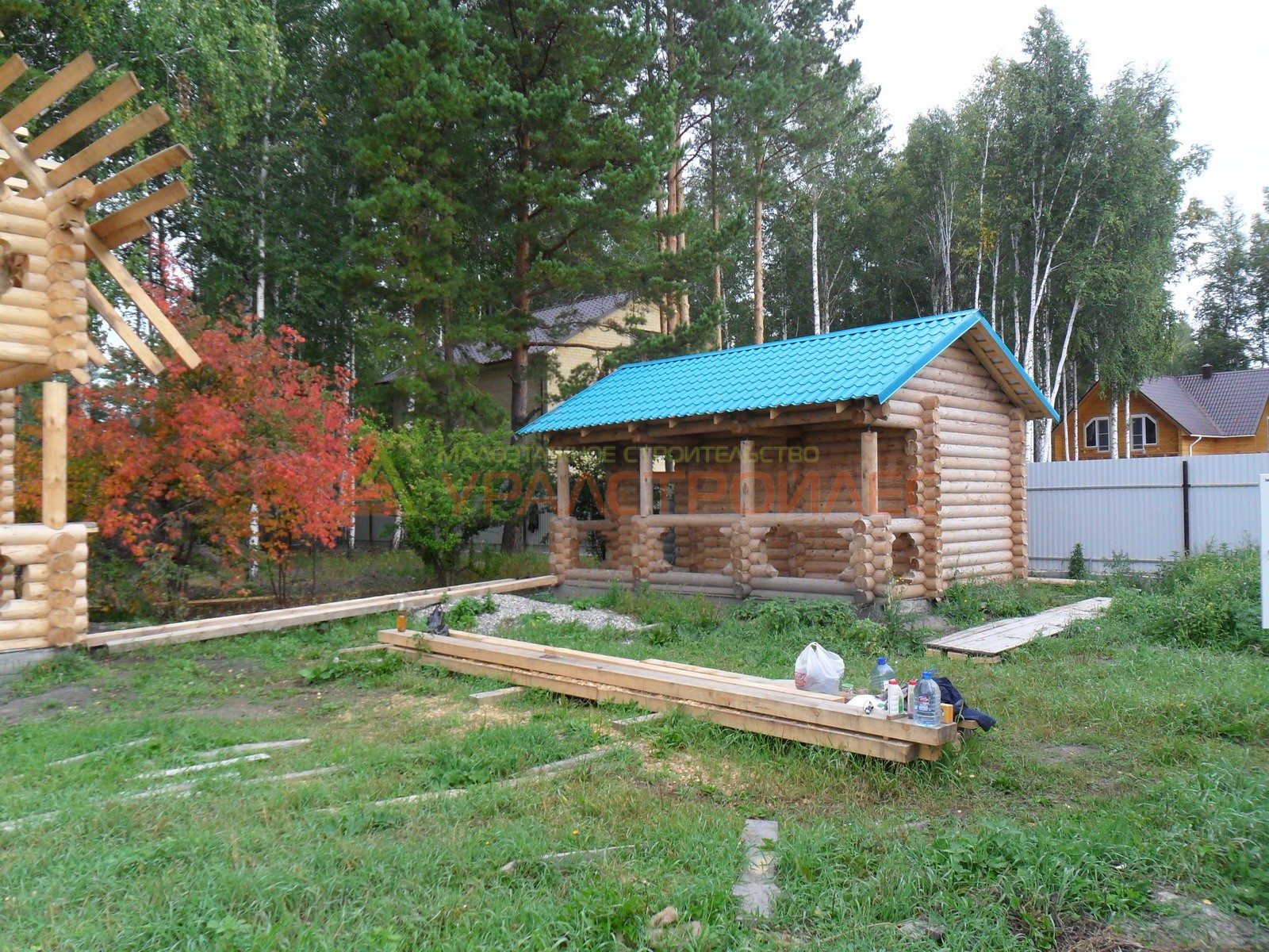 Проект №275, баня 6х4, общая площадь 20.3 кв.м. (диаметр бревна 200)