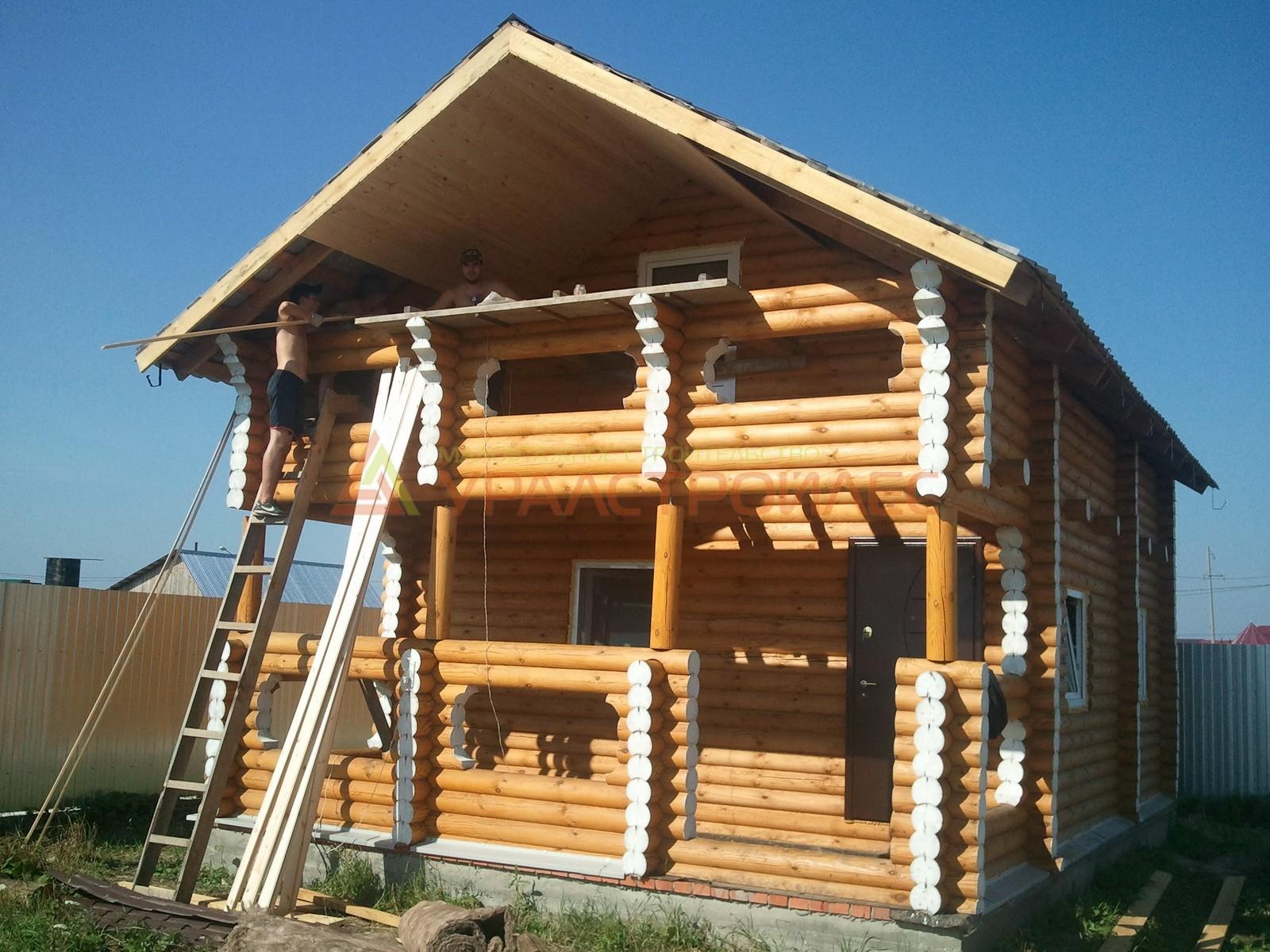 Проект №54, двухэтажный дом (диаметр бревна 240)