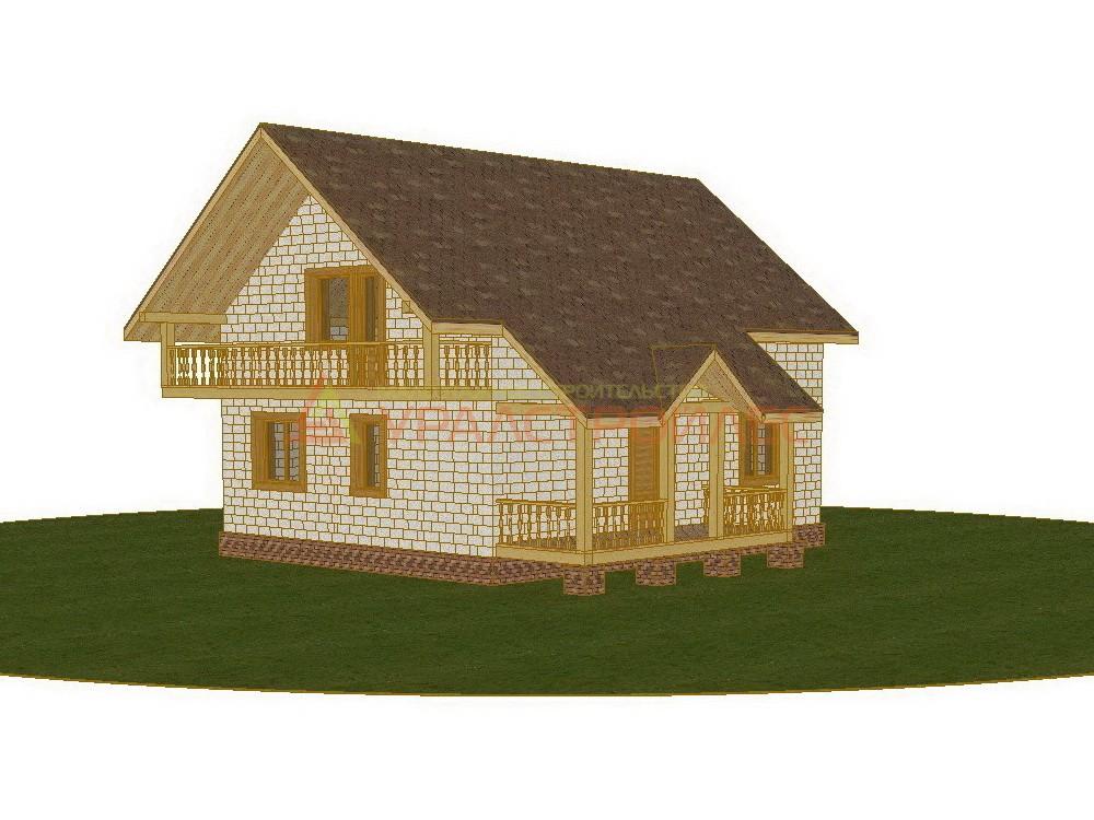 Проект №284, двухэтажный блочный Дом 10.1х9.85, общая площадь 155.5 кв.м.