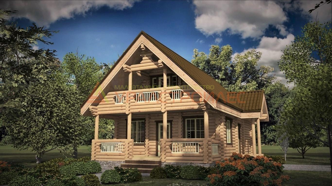 Проект №478  дом двухэтажный, общая площадь 123,9 кв.м.