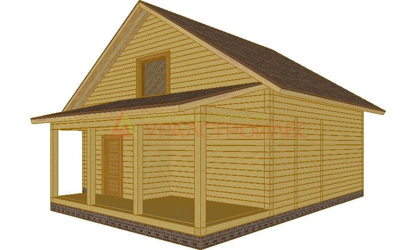 Проект №52, двухэтажный дом 11х10,  общая площадь 90.2 (брус180)