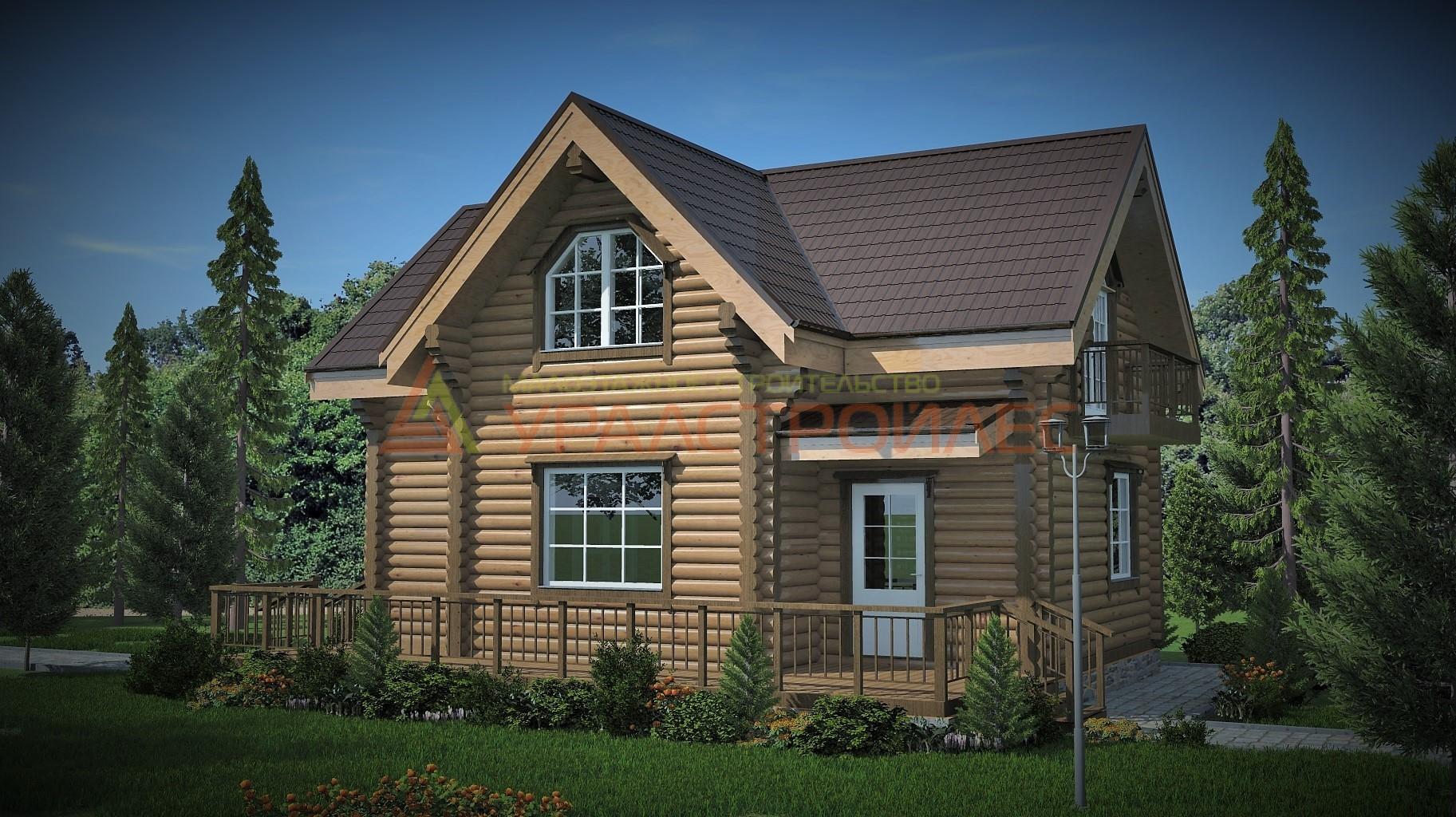 Проект №534, двухэтажный дом, общая площадь 130,5 кв.м.