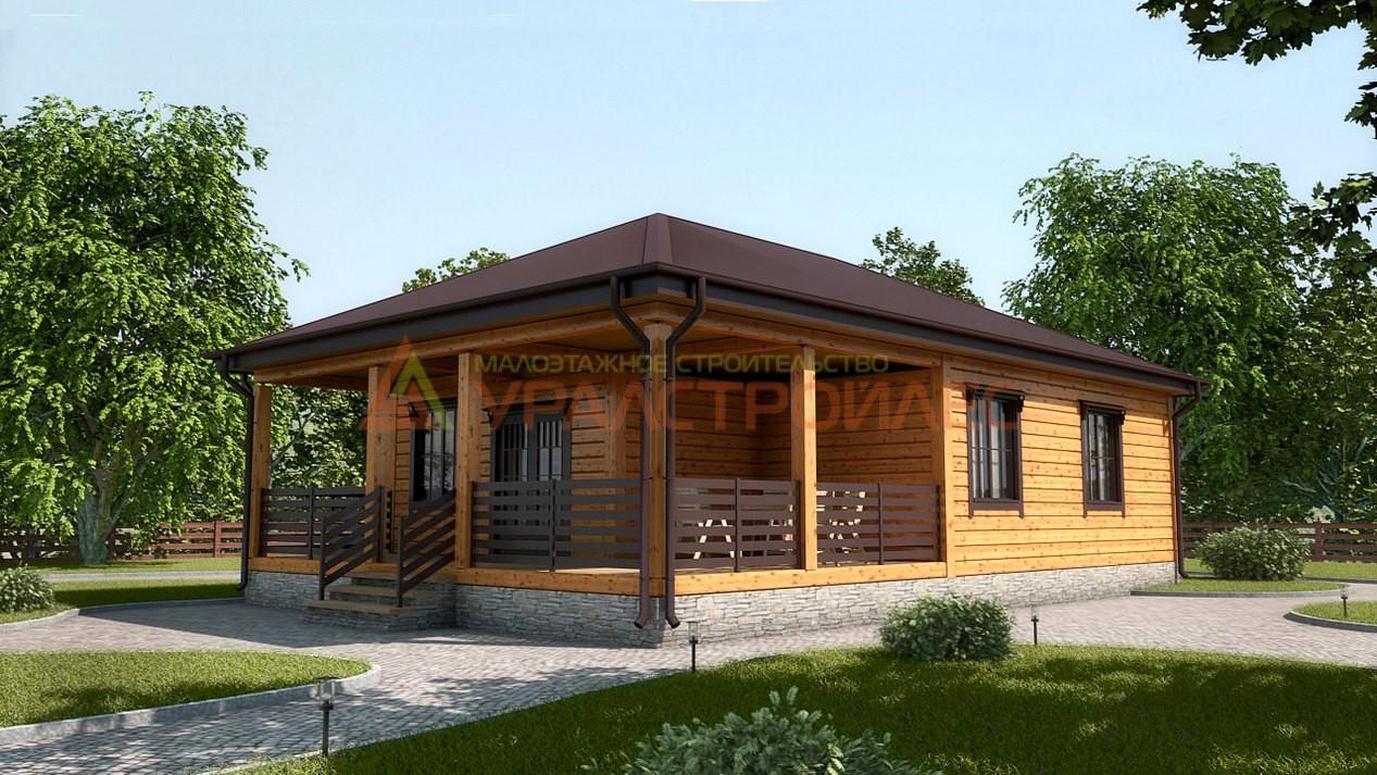 Проект № 570 Дом 12,9х8,4 (Брус 140х190), 100.5 м. кв.