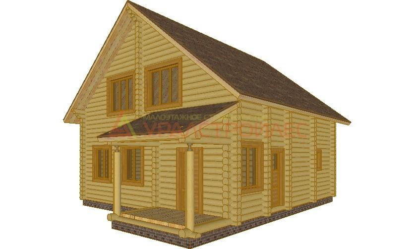 Проект №95, дом-баня, беседка, гараж, общая площадь кв.м. (диаметр бревна 240)